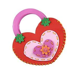 手工包diy制作包包挎包幼儿园手工缝制立体贴画益智手工卡通图案可爱