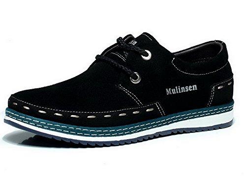 Mulinsen木林森英伦男鞋 潮流男鞋 真皮反绒皮板鞋 耐磨鞋子 时尚休闲鞋 2L40162
