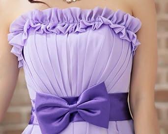 艾菲依依蝴蝶结裹胸小礼服荷叶花边抹胸姐妹伴娘4270