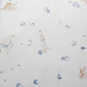 儿童房卡通小动物无纺布墙纸