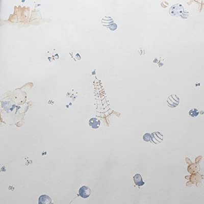 爱朵 儿童房卡通小动物无纺布墙纸 儿童房满铺沙发背景墙壁纸 00-1