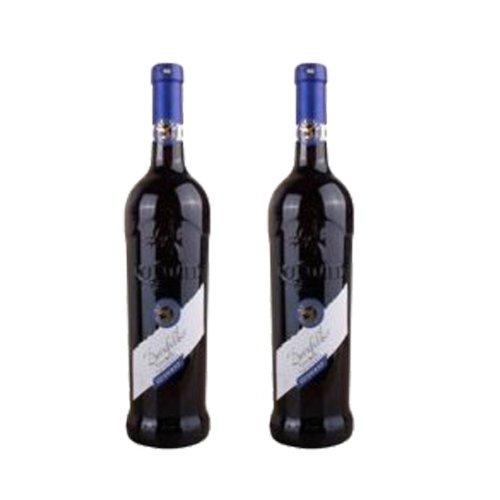 德国赤鹿 莱茵黑森产区丹菲德红葡萄酒750ml*2瓶装 德国原瓶进口红酒