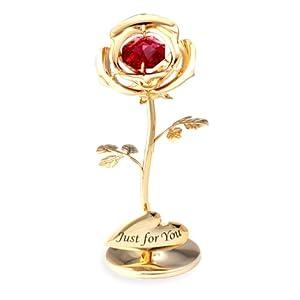 CRYSTOCRAFT 卡斯杜克 施华洛世奇元素 水晶摆件 小玫瑰 婚庆 情人礼品