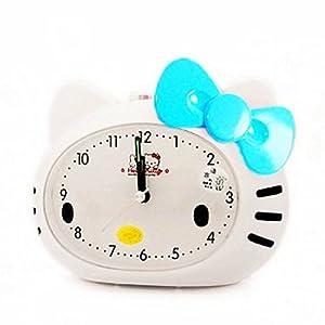 韩版超萌 可爱卡通 kitty静音闹钟 儿童闹钟 会说话的