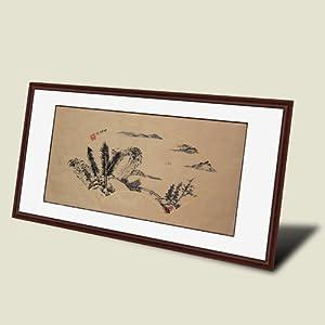 锦翰堂 中琳 扇形国画山水《暮江》写意风景画 装饰有