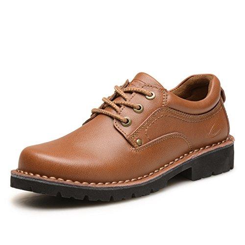 德国骆驼动感男鞋子秋季户外休闲鞋男士皮鞋英伦工装鞋真皮大头鞋2326