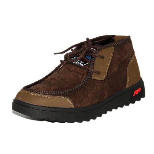 玉兰 老北京布鞋 冬款休闲舒适加厚绒男棉靴1616-95
