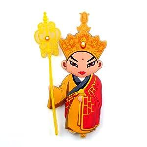 稻禾 中国风戏剧人物冰箱贴树脂磁性贴创意节日生日留学出国公关小