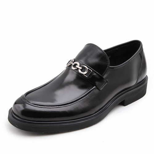 Satchi 沙驰 春秋款时尚套脚正装皮鞋 男士真皮商务牛皮鞋软面皮鞋