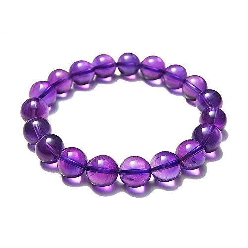 BINGKO冰珂 天然紫晶手链贵族名媛 紫水晶10mm AAA-图片