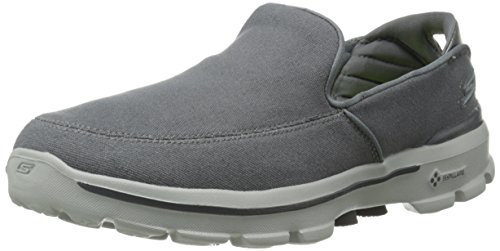 Skechers Performance Men's Go Walk 3 Attain Slip-On Walking Shoe, Charcoal, 11.5 M US