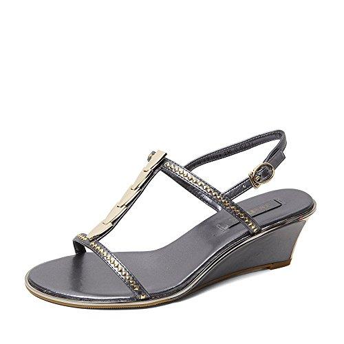 Teenmix 天美意 天美意夏季专柜同款珠光革女凉鞋专柜 6ZH04BL5
