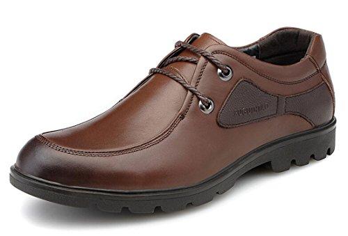 FGN 富贵鸟 夏季新款男鞋 英伦正装男士皮鞋 真皮系带商务男鞋 成熟休闲男鞋