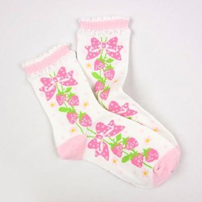 可爱公主漂亮儿童棉袜 舒适精梳棉学生袜子 多色选 b232 (小号, 白底