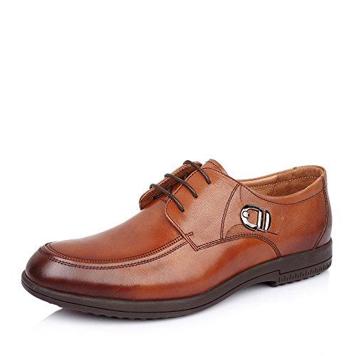 Senda 森达 森达打蜡牛皮男皮鞋春季男士商务皮鞋婚鞋 1AW24AM5