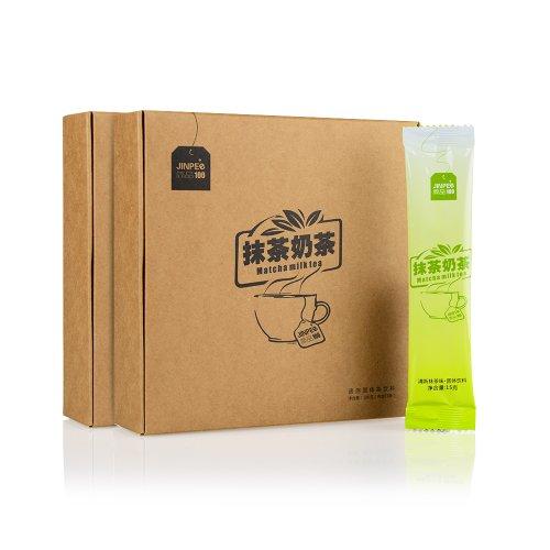 简品100 抹茶奶茶 纯天然抹茶奶茶粉 15条/盒 2盒装-图片