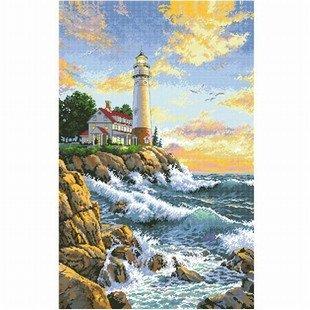 dmc 多美绣 客厅大画书房卧室欧式风景油画海边 法国 十字绣 11ct 三