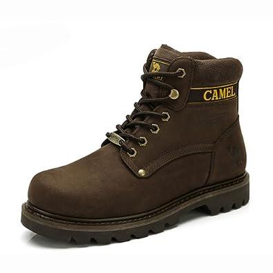 Camel 骆驼 男鞋 真皮头层皮 户外日常休闲男士马丁靴 潮酷军靴 2013新款 82129600