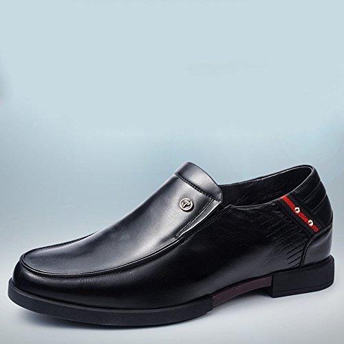Gog 高哥 男士增高鞋男式6cm商务休闲皮鞋高哥隐形内增高男鞋一脚蹬秋
