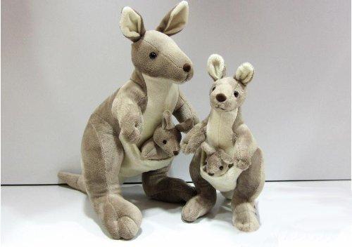 回至 袋鼠公仔亲子主题原单 可爱萌宠 毛绒玩具创意生日礼物 39cm
