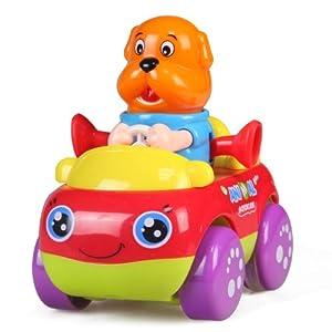 汇乐356 动物水果职业 惯性卡通造型 儿童早教益智趣味玩具车模 (卡通