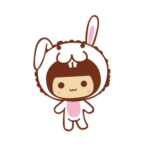 汽车贴纸 mocmoc 摩丝娃娃兔子帽子单个耳朵 汽车划痕贴 搞笑可爱卡通
