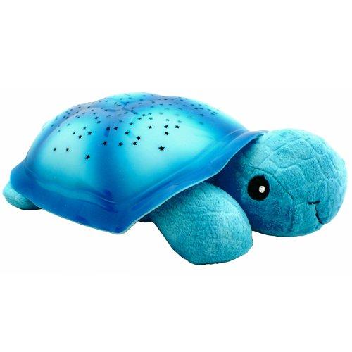 美国柯贝Cloud b安睡乌龟星空投影灯玩具(蓝色款) 婴幼儿投影毛绒玩具 宝宝生日礼物 儿童礼品