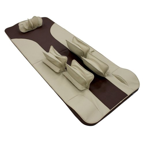 GESS 德国品牌 GESS8800 按摩床垫 可折叠全身按摩垫 全气压老人按摩床垫 多功能按摩器 咖啡色-图片