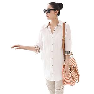 新款孕妇衬衫 韩版七分袖孕妇上衣 孕妇春夏装 均码 白色 高清图片