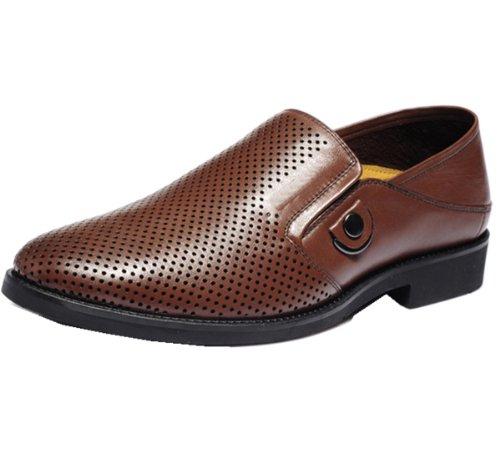 Camel骆驼牌 休闲男鞋系列 圆形冲孔 舒适内里 耐磨橡胶 防震鞋垫 独特魅力 稳健有力 男便鞋