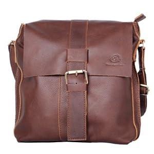 Xuanwu 2012新款手工皮具 日韩男式单肩包真皮男包商务包休闲包电脑包 热销 棕色 XW010