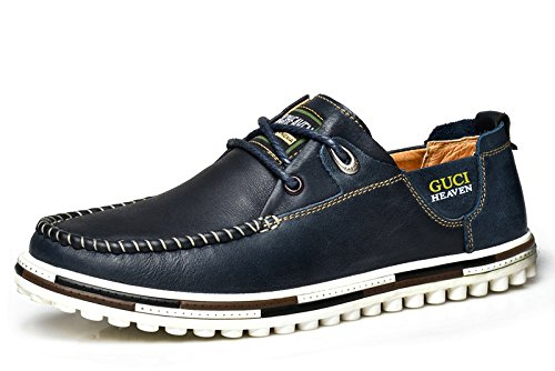 Guciheaven 韩版英伦时尚潮鞋 头层牛皮男鞋 真皮男鞋 男士商务休闲鞋 低帮男鞋 男士帆船鞋
