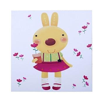 新视觉 抽象油画 无框画 家居摆设 艺术画 《可爱的兔子》40*40cm yh