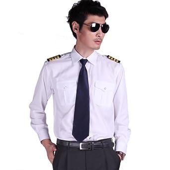 空少航空员机工作衬衫