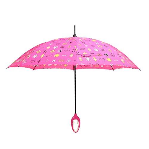 伞防紫外线遮阳伞大牌设计师创意直杆心形手柄雨伞旋转伞kr112符号红图片