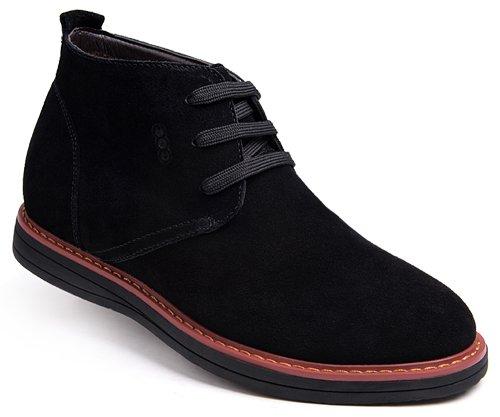 高哥男式棉鞋94910内增高6.5cm反绒冬季新款加绒休闲纯色棉靴