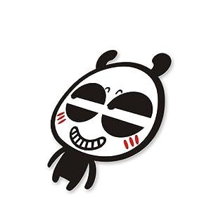 小马车品 个性车贴反光贴 卡通可爱 坏笑熊猫 个性车贴e045 如图20cm*