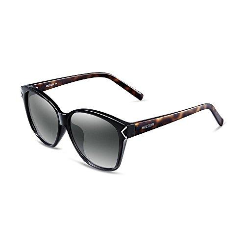 陌森太阳镜女正品2015新款偏光太阳眼镜 时尚猫眼个性墨镜图片