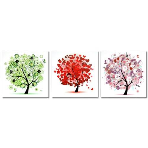 田园风景系列时尚装饰画无框画现代客厅卧室壁画三件套《梦想》p30013