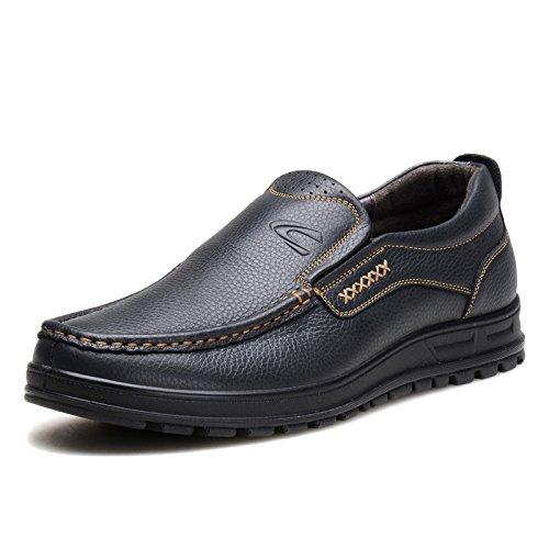 德国 骆驼 动感男士休闲鞋日常套脚皮鞋夏季真皮透气低帮懒人鞋子男2314