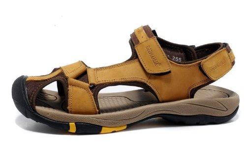 DEEWAHUA 韩版时尚男凉鞋 商务休闲鞋 头层皮凉鞋子 沙滩鞋 运动沙滩鞋 真皮凉鞋 男