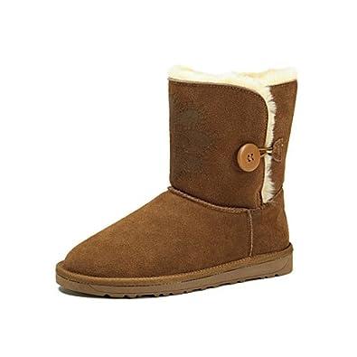 camel 骆驼 女鞋 休闲女款雪地靴