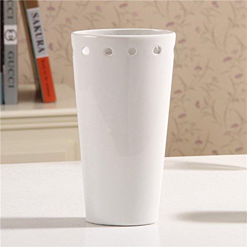 沐和陶瓷镂空花瓶 欧式家居工艺装饰品 简约现代时尚花插花器摆件