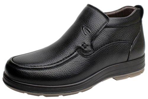 Camel 骆驼冬季高帮保暖靴子 马丁靴潮流时尚真皮皮鞋