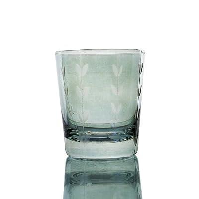 wuse 吾舍 彩色水晶玻璃刻花玻璃杯 威士忌酒杯 饮料杯