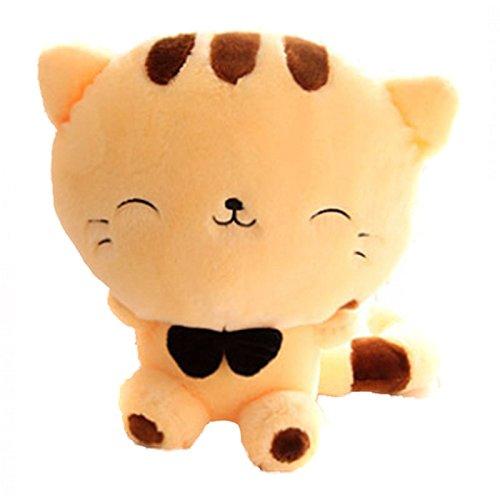 可爱大尾巴大脸猫饭团猫 毛绒玩具公仔娃娃抱枕 大号