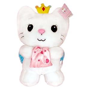 汉祥可爱28cm立甜天使猫咪毛绒玩具公仔娃娃儿童玩具
