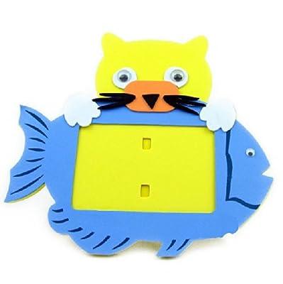动物相框手工拼装粘贴画立体贴画玩具生日礼物小猫