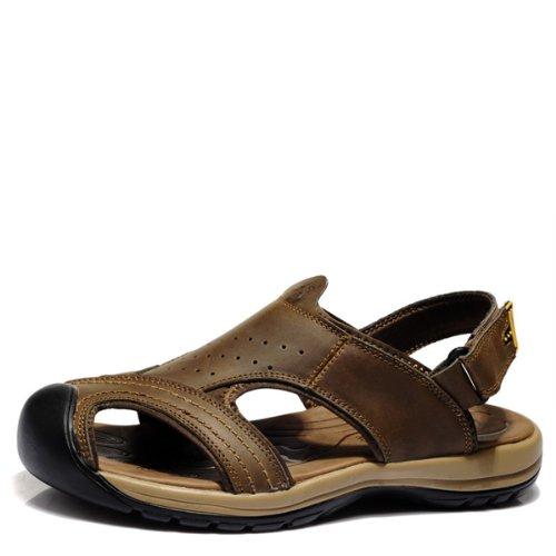 VanCamel西域骆驼 户外凉鞋 旅行休闲款 涉溪时尚款 头层牛皮 耐磨防滑底 夏季男凉鞋