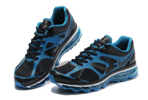 Nike 耐克  Air Max  后掌气垫 网面 透气 缓震 抓地 男子休闲运动鞋 黑蓝 487982-009